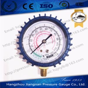 70mm 250psi Refrigeration Pressure Gauge for R-22/R-12/R-502 with Rubber Coat pictures & photos