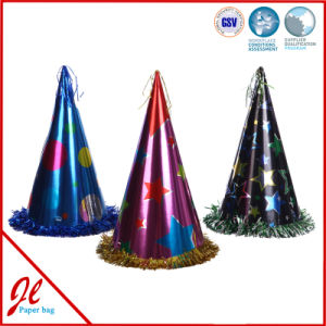 Foil Paper Party Hats / Party Con Hat / Metallic Paper Hat pictures & photos