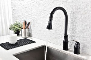 Double Hole Pull out Kitchen Faucet pictures & photos