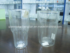 High Borosilicate Double Wall Glass Mug (SDC14420) pictures & photos