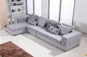 Modern Soft L Shape Italian Fabric Sofa Headrest Fashion Designs Sofa pictures & photos