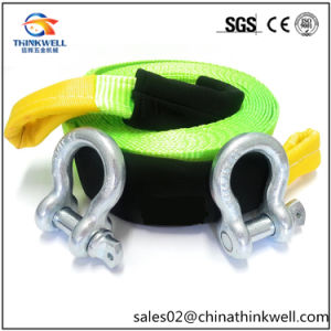 D Ring Shackle Loop End Recovery Tow Strap pictures & photos