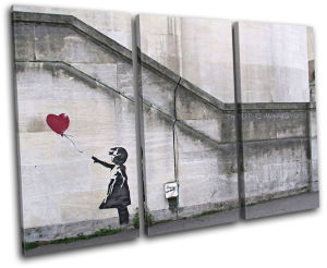 Custom Eco-Friendly Banksy Graffiti Canvas Painting / Prints /Canvas Painting for Sale