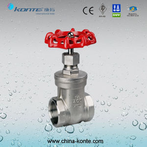 API Manual Cast Steel 200psi Threaded End Gate Valve pictures & photos