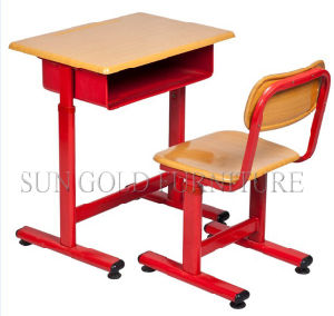 Red Single School Student Desk & Chair Furniture Sets (SZ-SF25) pictures & photos