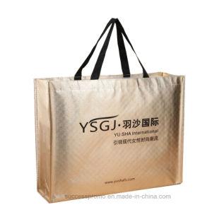 Shine Golden Metallic Color Laser Non Woven Shopping Bag for Promotion pictures & photos
