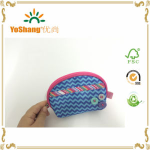 Microfiber Coin Purse Customized Logo Wallet Bag Fashion Lady′s Clutch Bag pictures & photos