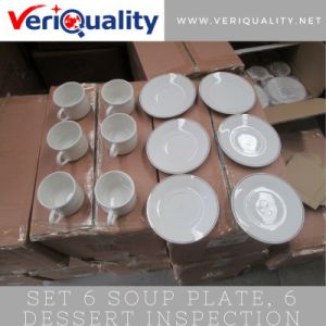 Set 6 Soup Plate, 6 Dessert Quality Control Inspection Service at Linyi, Shandong pictures & photos