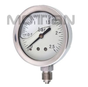 2 Inch Glycerin Silicon Liquid Oil Filled All Ss Pressure Gauge