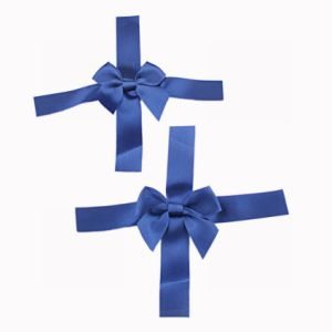 Blue Satin Ribbon Bow pictures & photos