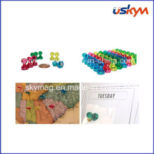 Magnetic Map Pins, Clear Color Push Pin, Magnet Hooks pictures & photos