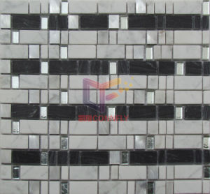 Black and White Mixed Crystal Stone Mosaic Wall Tile (CS228) pictures & photos