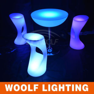 Plastic Commercial LED Bar Stool High Chairs pictures & photos