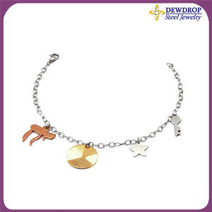 Fashion Man′s Jewelry Stainless Steel Charm Bracelet