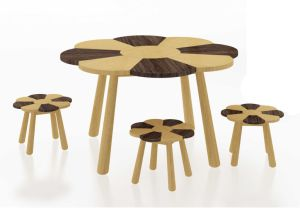 Bamboo Kids Playing Table Game Table and Stool pictures & photos