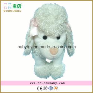 White Plush Dog Toy Stuffed Poodle Dog