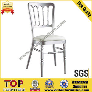 White Aluminum Fixed Cushion Wedding Napoleon Chair pictures & photos
