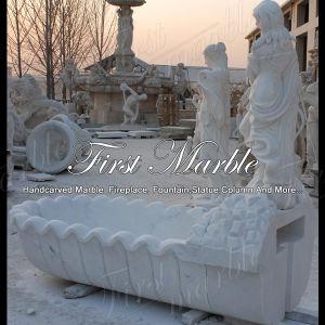 White Carrara Bathtub for Home Decoration Mbm-1021 pictures & photos
