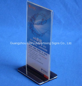 Plastic PMMA Acrylic Holder and Display Stand for Advertising pictures & photos