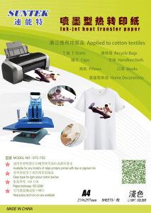 Dark Light T-Shirt Inkjet Laser Thermal Press Transfer Printing Paper pictures & photos