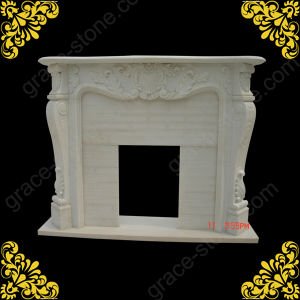 Carved Marble Fireplace Mantel Surrounds pictures & photos