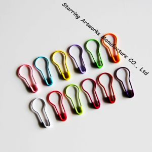 22mm Colorful Metal Steel Pear Bulb Shaped Hang Tag Safety Pin pictures & photos