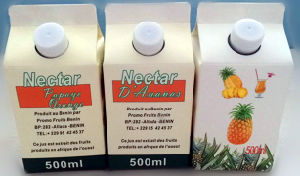 500ml Fresh Juice Gable Top Paper Box pictures & photos