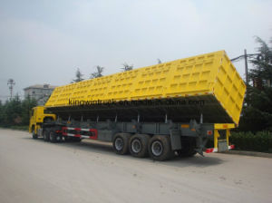 China Brand Three Axles Side Dump Trailer pictures & photos