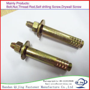 Zinc Plated Expansion Elevator Anchor Bolt with Washer and Nut pictures & photos