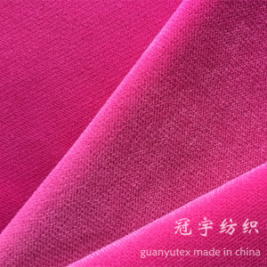Cationic Velvet Super Soft Fabric for Upholstery Decoration pictures & photos