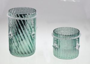Green Shine Glass Candle Holder pictures & photos