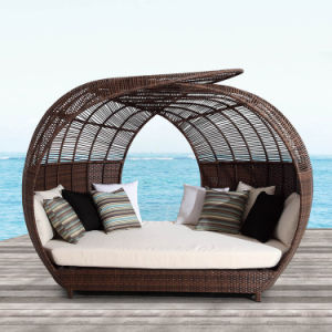 Dome Round Sunshine Lounge Beach Chaise Lounge Circular Garden Furniture Rattan Sun Daybed T580 pictures & photos