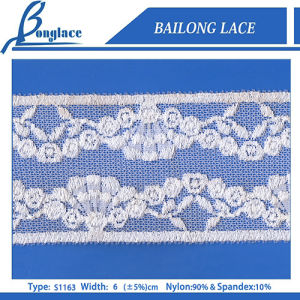 6cm Nylon Trimming Lace for Clothes Decor (Item No. S1163)