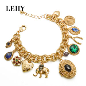 Rhinestone Acrylic Charm Bracelets in Heart Flower Elephant Pendants Bracelets pictures & photos