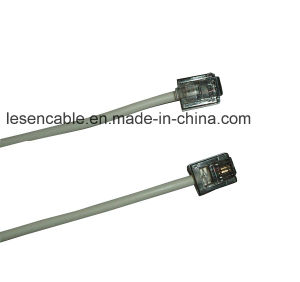 Rj11 Telephone Cable with RoHS Certification pictures & photos