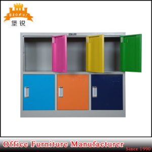 Top Quality Colorful Kids Small Storage Metal 6 Door Locker pictures & photos