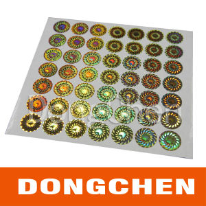 High Quality Custom Round DOT Matrix Hologram Security Label Sticker pictures & photos