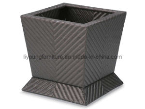Brown Rattan Garden Pot LG10-1008