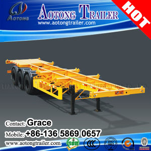 Cheap Price Tri-Axle 40FT Skeletal Container Semi Trailer for Sale, 20feet 40feet Skeleton Trailer pictures & photos