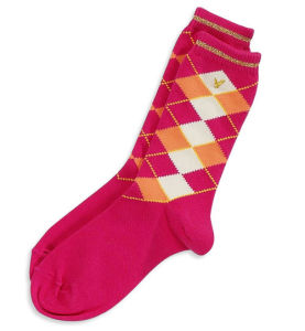 Girl Red Toddles Socks