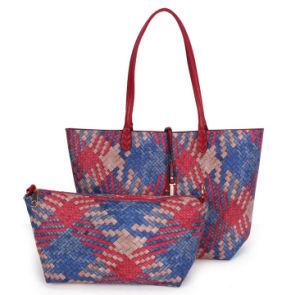 Colorful 2015 Fashion Weave Lady Leisure Handbag
