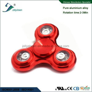 Best Hot Selling Alloy of Wintersweet Shape Hand Spinner Toys with Colorful LED Lights pictures & photos