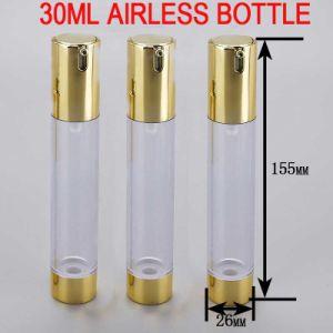 30ml Golden Skin Serum/Toner Cosmetic Plastic Airless Bottle pictures & photos