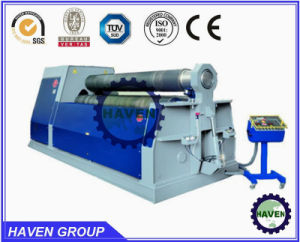 W11H-16X3000 3 rolls Automatic plate industrial bending rolling machine pictures & photos