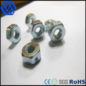 High Quality Hexagon Nut Carbon Steel Blue-White Zinc Plating Nut pictures & photos