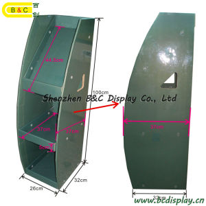 Bookrack Bookshelf Bookcase Dumpbin / Cardboard Dump Bin Display Stand (B&C-A035) pictures & photos