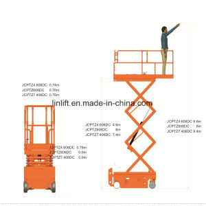 12m Semi-Electric Scissor Lift (JCPTG12) pictures & photos