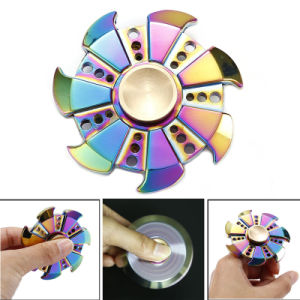 Rainbow Fingertip Gyro EDC Hand Spinner Fidget Toy Decompression Anxiety Finger Toys Rainbow Hot Wheels Aluminum Hand Spinner pictures & photos