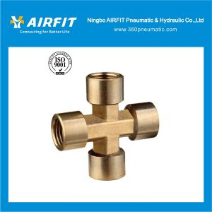 High Quality Cross Shape Brass Fittings