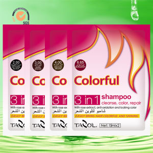 15ml*2 Tazo′l Black Hair Color Shampoo pictures & photos
